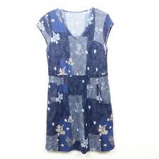 NOA NOA Kleid Sommerkleid Tunika Blau Rosa Nude Gr. M 38
