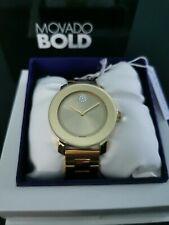 Movado Bold Ladies Champagne Dial Swiss Quartz Watch 3600104