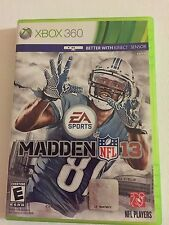 Madden NFL 13 (Microsoft Xbox 360, 2012) GAME DISC AND CASE