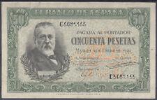 BILLETE ESPAÑA - 50 PESETAS MENDEZ PELAYO AÑO 1940 - SERIE C - EBC+