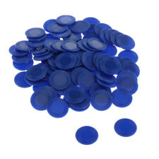 23mm Bingo Game Poker Chips Casino Board Games Markers Tokens Count Blue