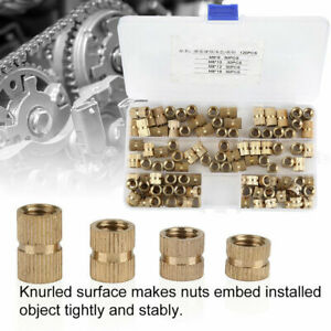 M2-M10 Assorted Brass Cylinder Knurled Threaded Round Insert Embedded Nuts NEW