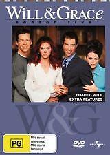 WILL & GRACE - COMPLETE SEASON FIVE / 5 - BRAND NEW & SEALED REGION 4 DVD