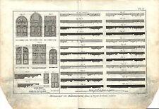 Stampa antica LAVORAZIONE LEGNO Pl10 Enciclopedia Diderot 1790 Old antique print