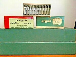 Lot Of 12 Vintage ARGUS Automatic Slide Magazine Cartridge 35MM Original Case