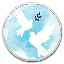 1 oz Silver Colorized Round - APMEX (Making Peace) - SKU #118061