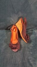 Women's Clarks Artisan Denim Wedge Heeled Open Toe Sandals Size 6 M