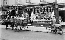 """Photo ca 1909 UK """"Sparkes Butcher Shop"""""""