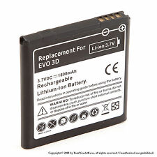 1800mAh Battery for HTC Amaze 4G HTC EVO 3D HTC EVO V 4G HTC Sensation XE