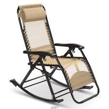 Zero Gravity Cool Mesh Rocker Chair TAN Ergonomic Portable Folding