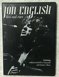 Jon English DVD Live and RARE - LIVE CONCERT 1980 / 1983 - BONUS VIDEOS