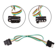 2ft/Trailer Light Wiring Harness Extension 4-Pin Plug 18 AWG Flat Wire Connector