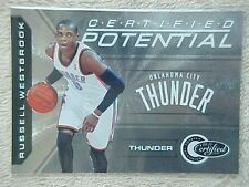 RUSSELL WESTBROOK 2010-11 PANINI TOTALLY CERTIFIED POTENTIAL CARD #12 182/249