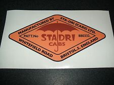 STA-DRI CAB ROOF DECAL/STICKER (VINTAGE/CLASSIC NUFFIELD 460, 10/60, 342, 10/42)
