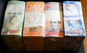 2014-18 Venezuela $2, $5, $10, $20 Bolivares UNC 4 Bricks 4000 Pcs New SKU037