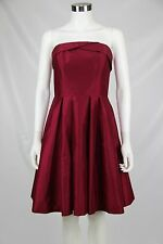 White House Black Market Womens Dark Red Strapless Cocktail Party Dress 2