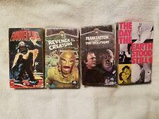 Vintage 4-VHS Cassette Classic SFI-FI Movies