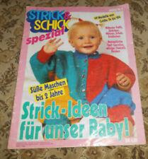 Strick & Schick von 1991 Baby -2 Jahre Stricken Strickheft Taufkleid Bilderpulli
