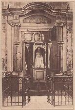 G1225 France - Synagogue de Carpentras - Le Tabernacle - Stampa - 1931 old print