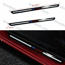 For Ford Carbon Fiber Car  Door Welcome Plate Sill Scuff Cover Panel Sticker X2