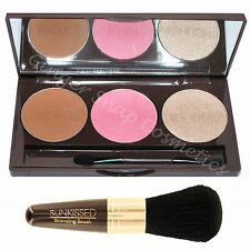Sunkissed Contour Palette Gift Set Kit Bronzer Blusher Highlighter Highlighting