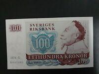 Banknote Sweden 1974(xf) 100 kronor.