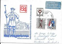 CLB206) Nice W. Germany 1984 Cover Salt Exchanger, Hallore & Bride, Halle(Saale)