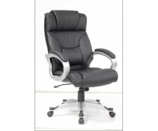 Drehstuhl, Chefsessel Bürostuhl mit Wippmechanik Keitum Kunstleder schwarz
