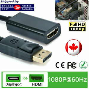 Display Port to HDMI Adapter Thunderbolt DP Cable for MacBook Pro Air Mac