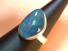 Exclusiver Opal Ring  20 x 14 mm - tolle Farben - Sterling Silber 925 - variabel