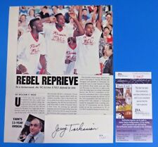 JERRY TARKANIAN SIGNED 2x5 CUT INSERTED IN MAGAZINE PAGE ~ JSA T19427 ~
