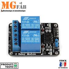 Module 2 relais 5Vdc contact 1 RT 250VAC 10A | ARDUINO DIY RELAY ESP PIC PI 5V