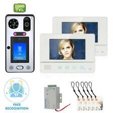 7inch 2 Monitor Video Doorbell Intercom Face Recognition Fingerprint RFIC 1080P