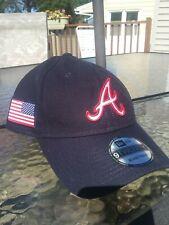 Atlanta Braves New Era MLB 9TWENTY Strapback Adjustable Hat Dad Cap USA Flag