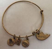 Gold Tone Alex & Ani Charm Bracelet 2015 Half Heart Best Friend