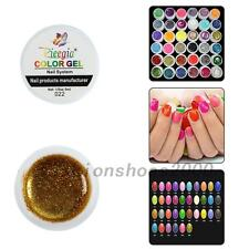 Pop 36PCS Glitter Mix Color UV Builder Gel Acrylic Set for Nail Art Tips Salon