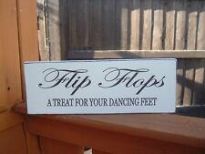 Nozze Infradito trattare per la vostra Dancing Feet SHABBY CHIC N TAVOLA VINTAGE FIRMATO
