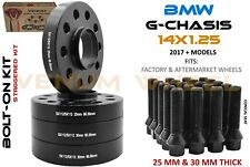 4 Pc 25mm & 30mm BMW Wheel Spacer Staggered Kit 5x112 + Bolts Fits G Chassis