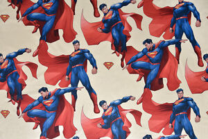 Superman Fabric - Large Children's Design, 100% Cotton, Cushions, Curtains