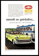 1957 CHEVROLET  Bel Air 4-door Sedan Classic Fifties 1950s 50s Car AD
