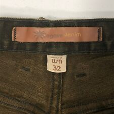 Agave Denim Waterman Relaxed Straight Muddy Water Flex Men's Brown Jeans 32x34