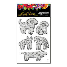 LAUREL BURCH RUBBER STAMPS CLING DOG PARK NEW cling STAMP + TEMPLATE