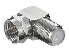 Goobay Winkel-Adapter F-Stecker - F-Buchse 90°
