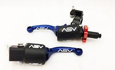 ASV F3 Unbreakable Pro Pack Shorty Blue Brake + Clutch Levers Hot YZ 250F 450F