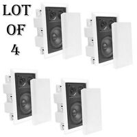 "(4) Pyle PDIW57 5""Two Way In Wall Enclosed Speaker System w/Directional Tweeter"