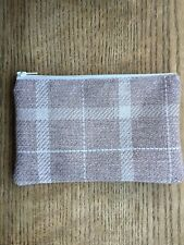 HANDMADE LARGE COIN PURSE MADE IN NEXT WOOL FABRIC