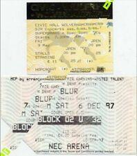 Supergrass 9/5/97 + Blur NEC Arena 6/12/97 Tickets