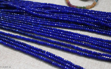"""2x4mm Natural Faceted Sapphire Blue Jade Rondelle Gemstone Loose Beads 15"""" AAA"""