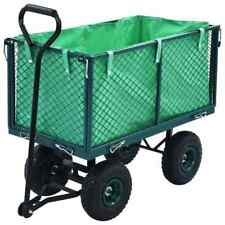 vidaXL Garden Hand Trolley Green 350kg Rust Free Hand Truck Transport Cart