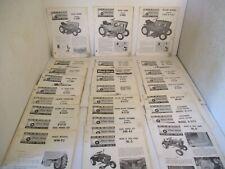 30 - Toro Wheel Horse Tractor Riding Lawn Mower Service Operators Manual  Parts